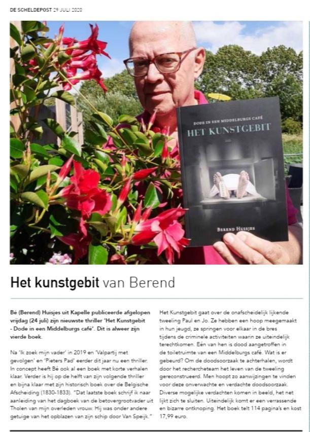 Leuk artikel over mijn boek Het Kunstgebit
